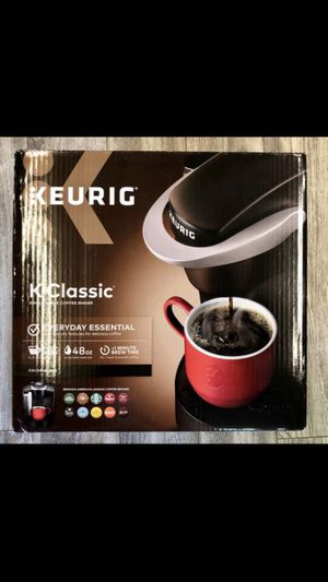 Keurig K-Classic Coffee Maker, Single Serve K-Cup Pod Coffee Brewer, 6 to 10 oz. Brew Sizes, Black for Sale in Los Angeles, CA