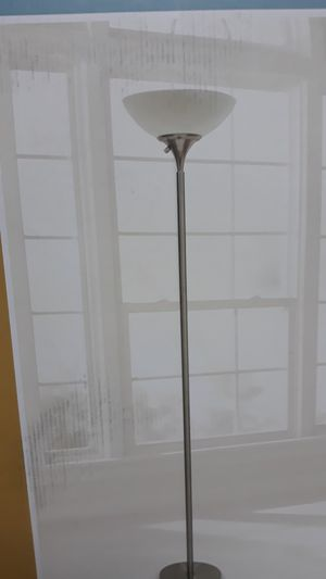 New in box 71 inch high floor lamp brushed nickel 798919046379 for Sale in Las Vegas, NV