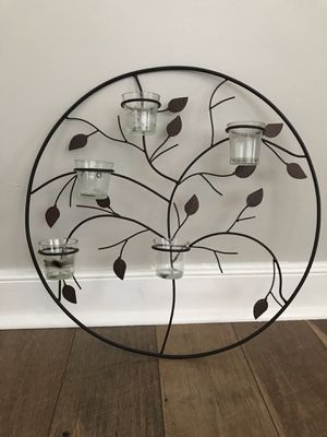 Wrought Iron Candle Holder Wall Decor for Sale in Richmond, VA