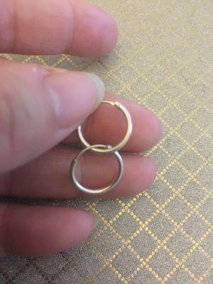 Real silver hoop earrings for Sale in Moreno Valley, CA