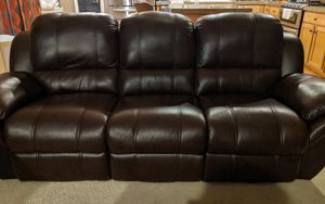 Recliner Leather Couch & Loveseat for Sale in Renton, WA