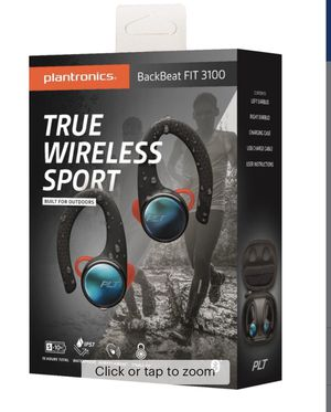 Plantronics - BackBeat FIT 3100 True Wireless Earbud Headphones - Black for Sale in Miami Gardens, FL