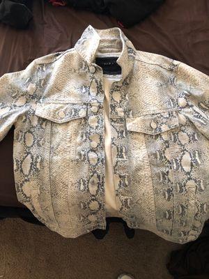 Zara snakeskin Jean jacket size:Small for Sale in Washington, DC
