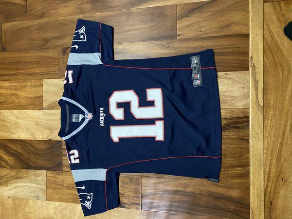 Patriots QB Tom Brady Jersey 12 Youth Medium 10/12