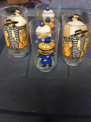 Collectible Vintage McDonald's glass cups (Set of 4) for Sale in TEMPLE TERR, FL
