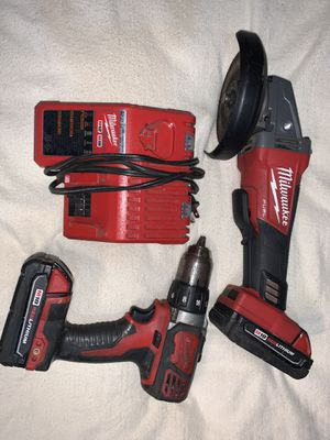 Milwaukee M18 grinder and drill for Sale in Tacoma, WA