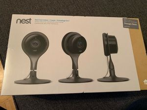 Nest indoor security cameras 3 pack for Sale in Oshkosh, WI