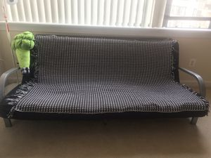 futon frame with full size mattress for Sale in Lincolnia, VA