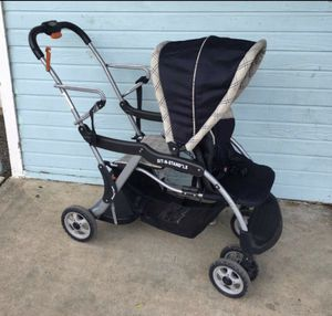 Baby trend sit and stand tandem double stroller for Sale in San Antonio, TX