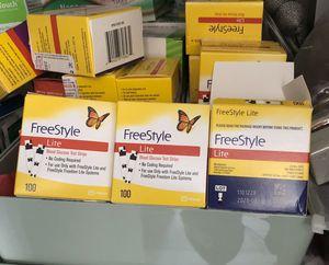 Freestyle BLOOD GLUCOSE TEST STRIPS 100 GLUCOSE TEST STRIPS for Sale in East Brunswick, NJ
