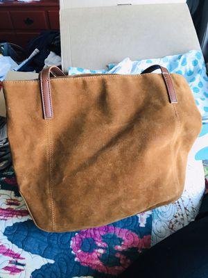 Cognac Brown Suede huge like-new tote, $30 for Sale in Dallas, TX