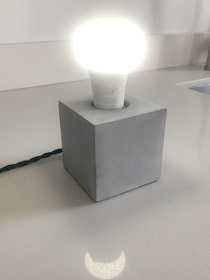 Brand NEW Modern concrete table lamp with Philips Hue Bulb for Sale in Miami, FL