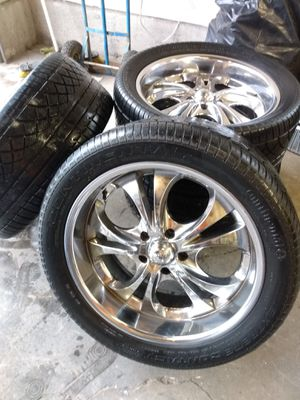 "20"" rims and continental tires for Sale in Federal Way, WA"
