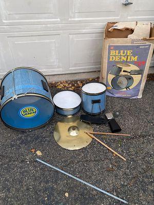 Vintage Ohio Art Blue Denim Children's Drum set rare u $150 for Sale in Elgin, IL
