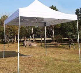 New In Box $100 Heavy-Duty 10x10 ft Popup Canopy Tent Instant Shade w/ Carry Bag Rope Stake, White Color for Sale in Whittier,  CA