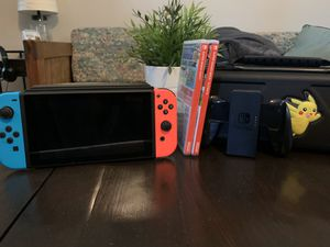 Nintendo Switch w/ Super Smash & Mario Party for Sale in Smithfield, VA