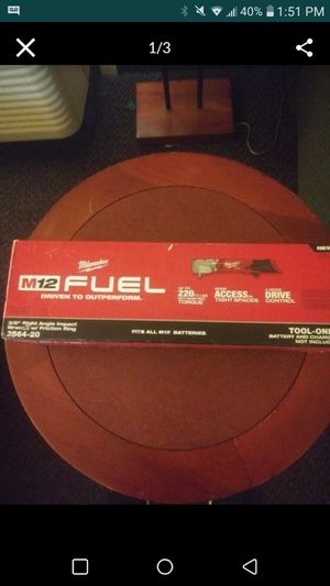 M12 Milwaukee Fuel 3/8 Right Angle Impact Wrench w/ Friction Ring for Sale in Renton, WA