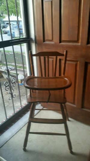 Antique wooden high chair for Sale in Essex, MD