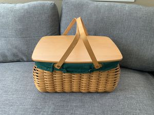 Longaberger Craft keeper Basket with protector and decorative-sleeve for Sale in Hesperia, CA