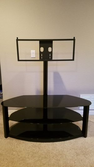 Black Glass TV Stand and Shelving for Sale in Peyton, CO