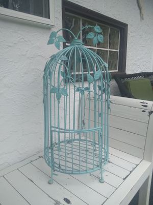 VINTAGE • WROUGHT IRON BIRD CAGE for Sale in SeaTac, WA