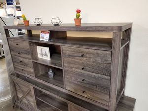 Jane TV Stand up to 70in TVs, Distressed Grey Finish for Sale in Garden Grove, CA
