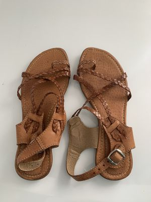 Leather Strappy Sandals for Sale in Long Beach, CA