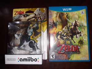Zelda Twlight Princess HD Nintendo WII U Game with Wolf Link Amiibo figure (New) for Sale in Irving, TX