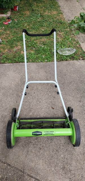 Greenworks 18-Inch Reel Lawn Mower for Sale in Des Plaines, IL