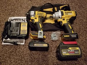 Dewalt 20-Volt Max XR 3/8in and 1/2in Impact Wrench Combo Kit for Sale in Modesto, CA