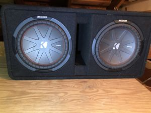 """Kicker Dual CompR 43DCWR102 Ported enclosure with dual 10"""" CompR subwoofers for Sale in Tulsa, OK"""