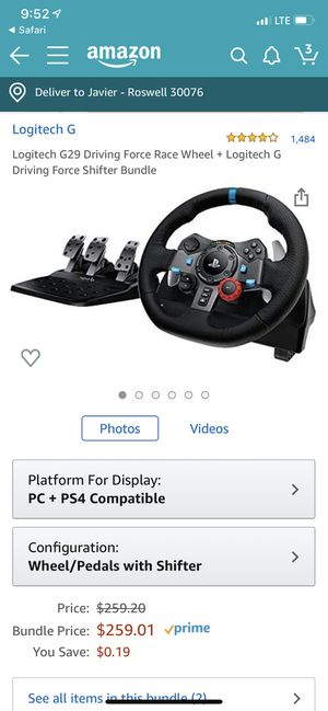 PS4 steering wheel for Sale in Alpharetta, GA