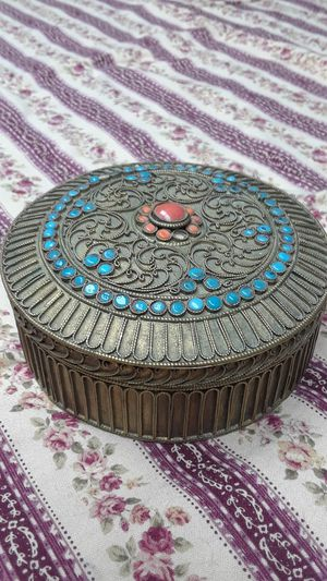 Moroccan brass with coral and turquoise for Sale in Suttons Bay, MI