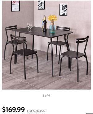 Costway 5 Piece Dining Set Table And 4 Chairs Home Kitchen Room Breakfast Furniture for Sale in Hawaiian Gardens, CA