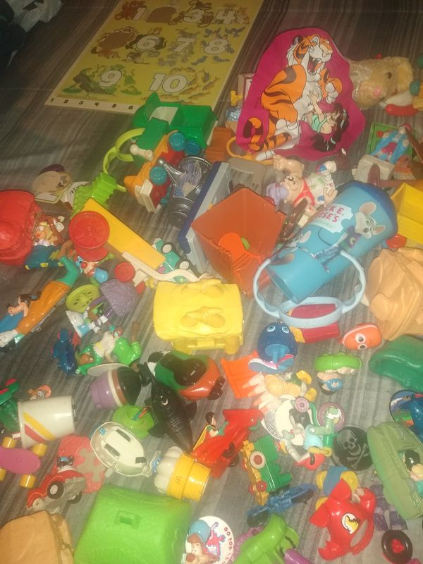Free box of random mixed miscellaneous figurines, couple of books