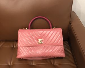 LimitedEdition: CHANEL Chevron Quilted Leather Coco Top Handle Bag for Sale in Seattle, WA