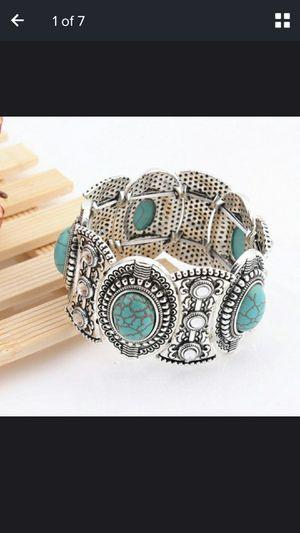 Retro Fashion Turquoise Wide Bangle Bracelet for Sale in Wichita, KS