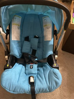 Doona Car Seat Stroller, with base and headrest Turquoise for Sale in Pfafftown, NC