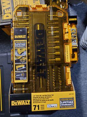 DeWalt DWMT73808 71 Piece Multi-Bit & Nut Drive Tool Set for Sale in Burlington, NJ