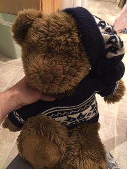 American Eagle Teddy Bear With Sweater And Beanie for Sale in Alexandria,  VA