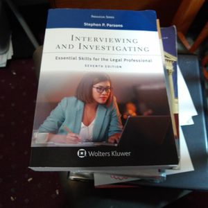 Interviewing And Investigating 7th Edition for Sale in Reedley, CA