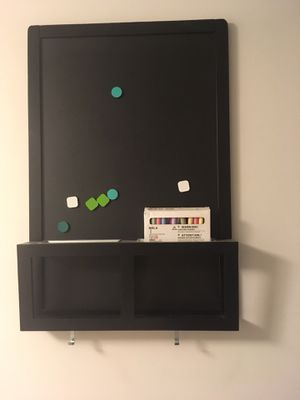 Mail organizer/ magnetic chalk board for Sale in Bethesda, MD