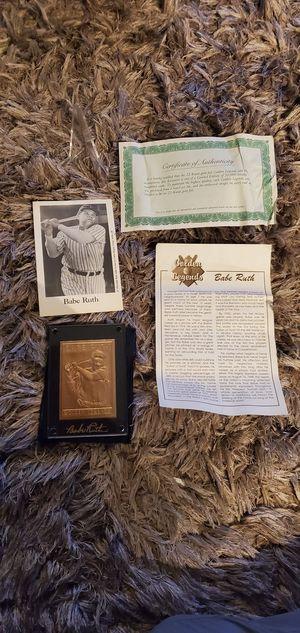 Golden Legends Babe Ruth 22-Karat Gold Foil Card for Sale in Alhambra, CA