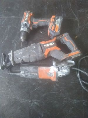 Battery pack drill and saw plus grinder for Sale in Detroit, MI