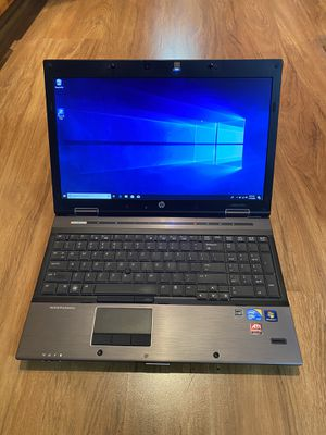 HP EliteBook 8540w core i5 4GB Ram 320GB Hard Drive Windows 10 Pro Laptop with charger in Excellent Working condition!!!!! for Sale in Aurora, IL