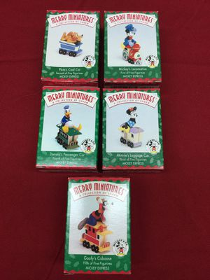 Hallmark Christmas Merry Miniatures Figurines Mickey's Express 1998 for Sale in Poway, CA