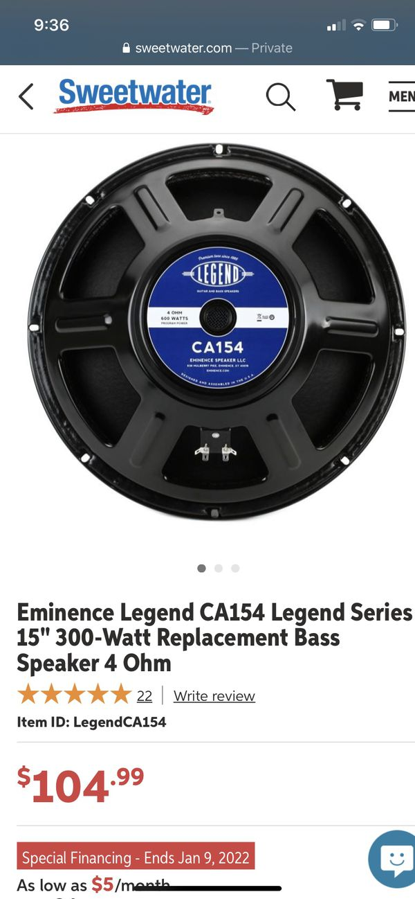 Ampeg BA-112 Bass Amp W/ Upgraded Speaker