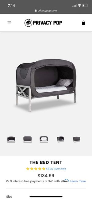Privacy pop bed tent for Sale in Shoreline, WA