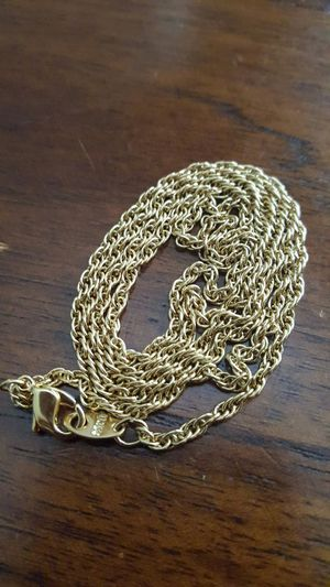 """18k gold plated chain 30"""" for Sale in Severn, MD"""