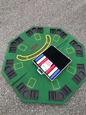 Poker table top and chips for Sale in Wenatchee, WA